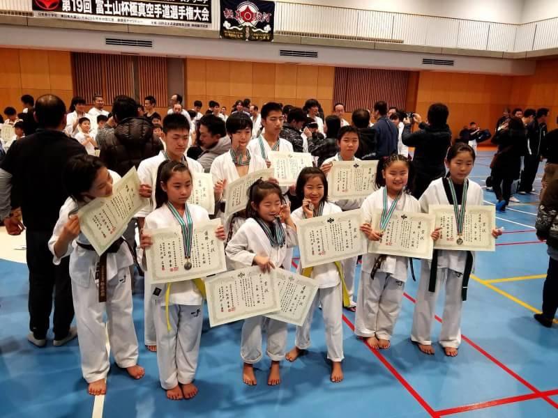 2017年 静岡県空手道選手権大会 富士山杯 支部選手結果