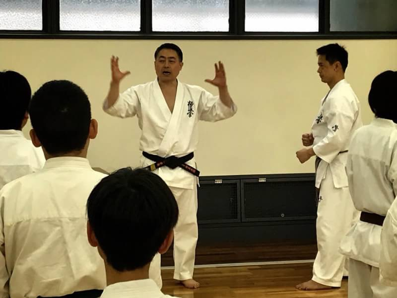 松井館長セミナー稽古