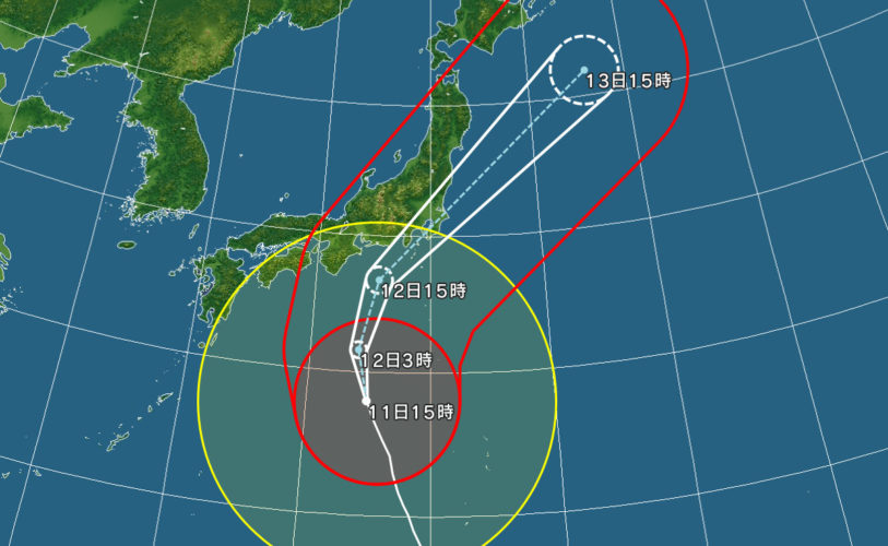 緊急連絡 台風19号接近に伴い明日10月12日(土)全道場お休み休館のお知らせ